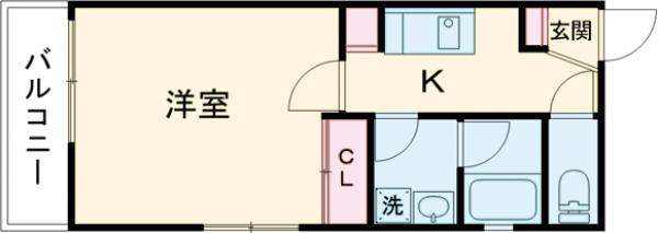 THE CLASS EX Residence・301号室の間取り