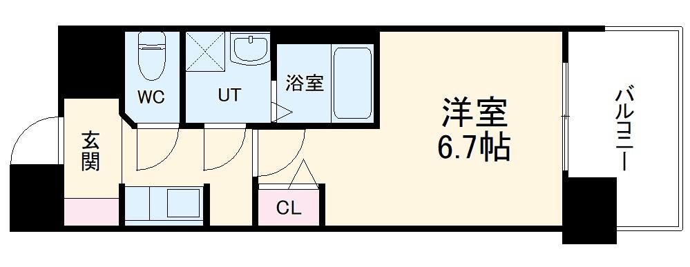 S-RESIDENCE上前津・1203号室の間取り