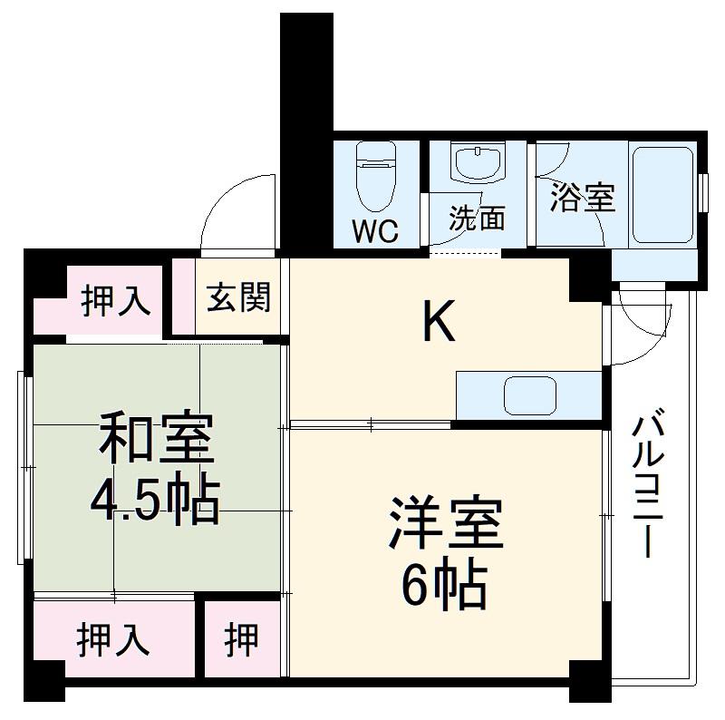 ビレッジハウス君津・2-302号室の間取り