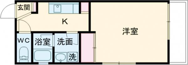 THE CLASS EX Residence・404号室の間取り