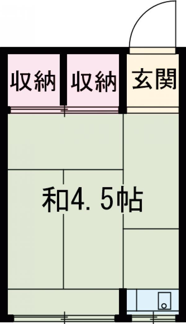 木原山ロッヂ・21号室の間取り
