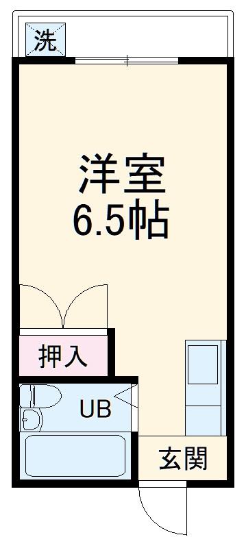 コーポ松本・206号室の間取り