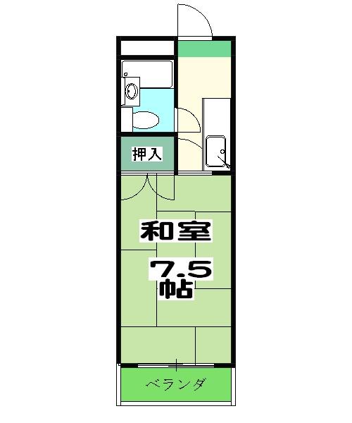 長岡ロイヤルパレス・A405号室の間取り