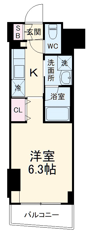 ZOOM横浜関内・905号室の間取り