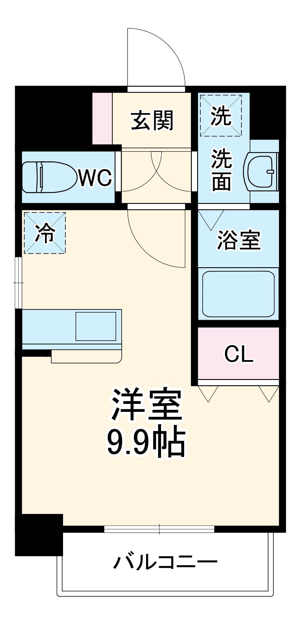 ザ・レジデンス志賀本通・901号室の間取り