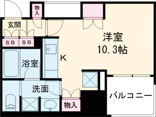 パークハウス阿佐ヶ谷レジデンス・510号室の間取り