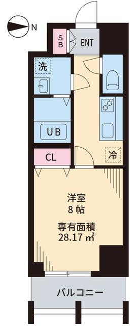 TOKIO国立タワー・702号室の間取り