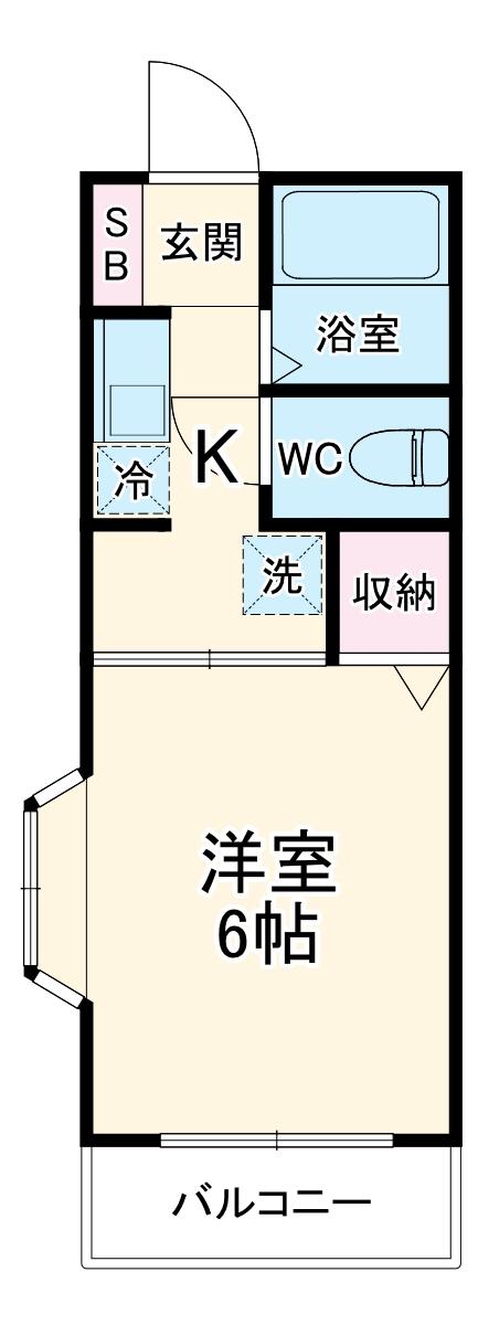 マイホーム二俣川・102号室の間取り