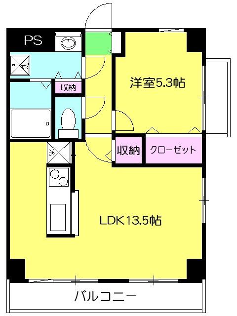 HILL SIDE 湘南 402号室の間取り