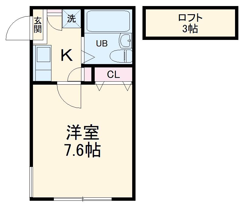 ジュネパレス横浜第11・203号室の間取り