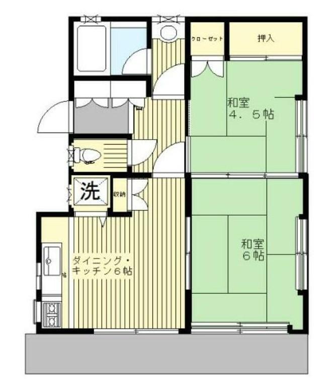 伊藤アパート・1F号室の間取り