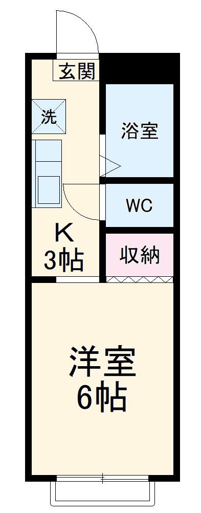 YSハウス・303号室の間取り