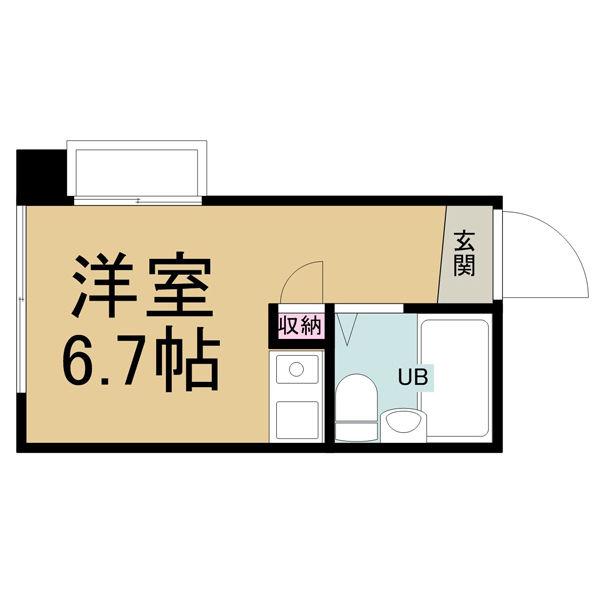 ハートイン徳川園・4B号室の間取り