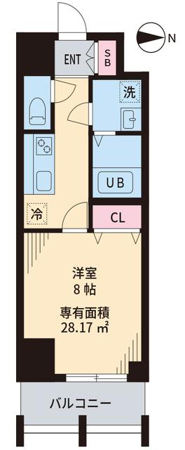TOKIO国立タワー・1003号室の間取り
