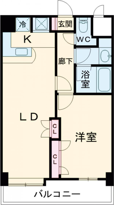 ワコーレ東日暮里Ⅱ・203号室の間取り