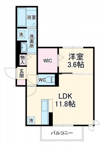 仮称)D-room豊田市土橋町ハイツ 201号室の間取り