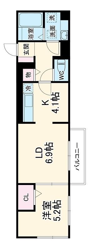 仮称)D-room豊田市土橋町ハイツ 102号室の間取り