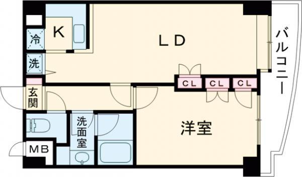 ワコーレ東日暮里Ⅱ・607号室の間取り