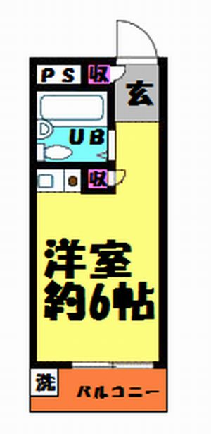 プレステージ浦和・301号室の間取り
