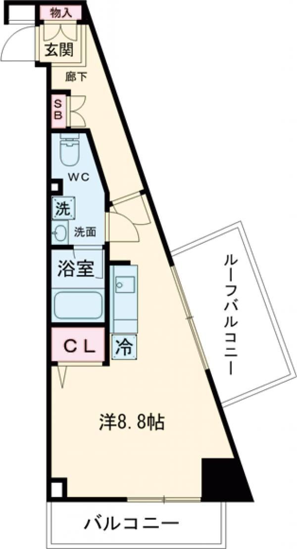 GENOVIA西高島平skygarden・608号室の間取り