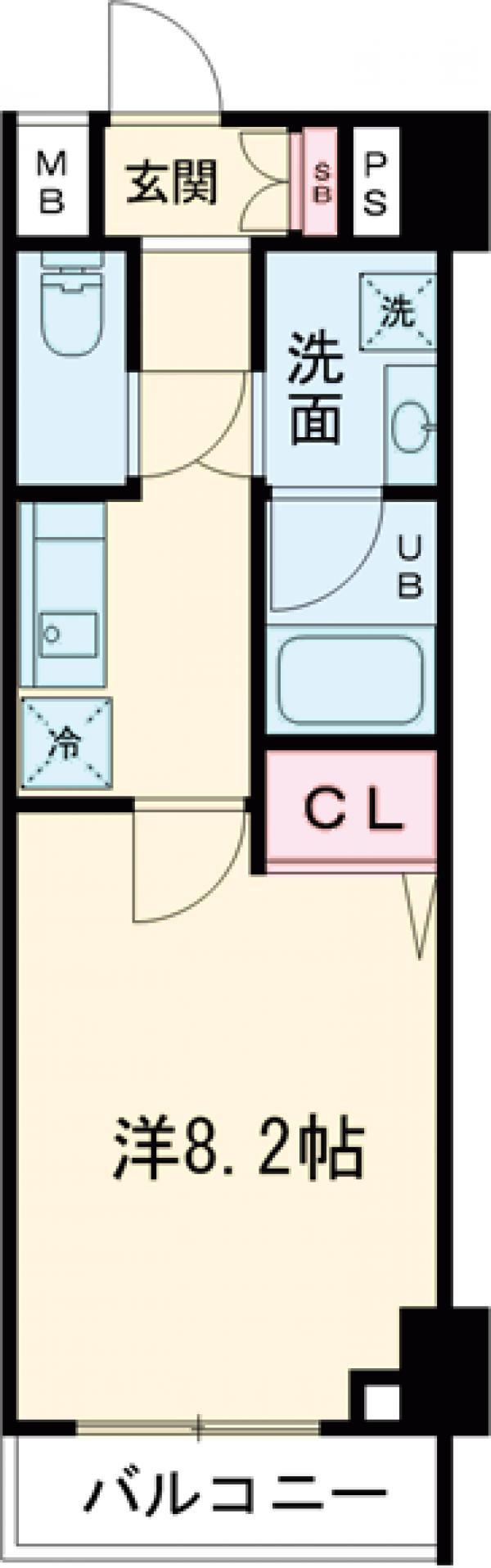 GENOVIA西高島平skygarden・803号室の間取り
