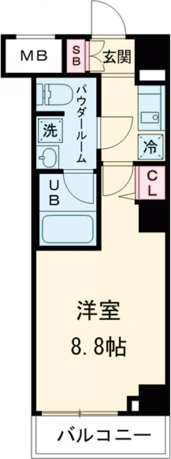 GENOVIA西高島平skygarden・307号室の間取り