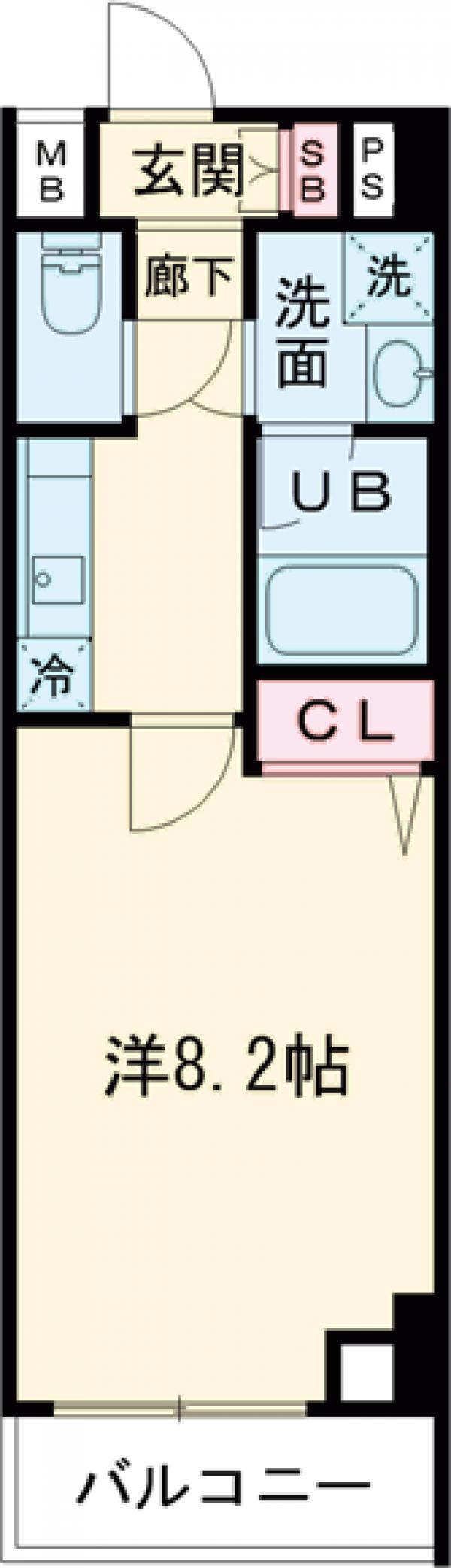 GENOVIA西高島平skygarden・605号室の間取り
