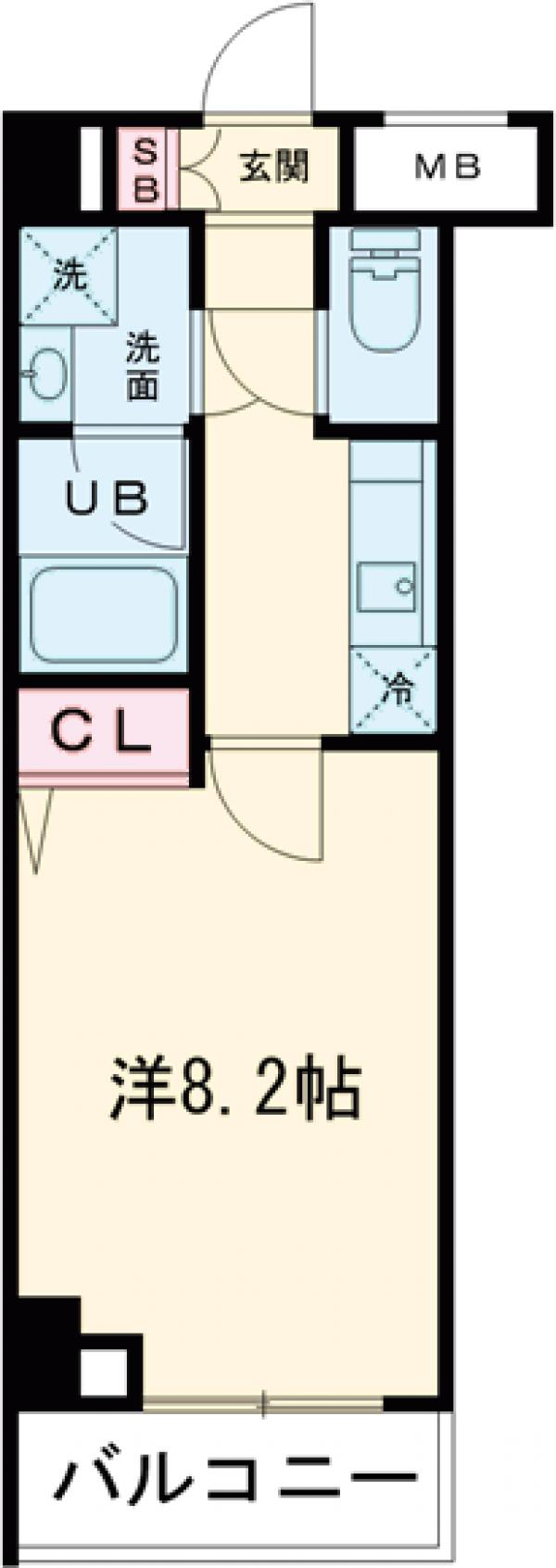 GENOVIA西高島平skygarden・504号室の間取り