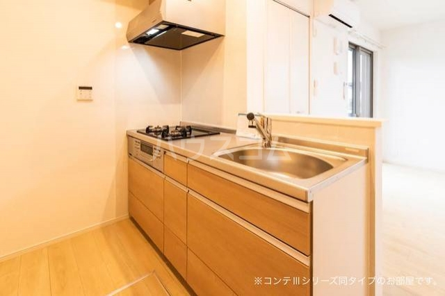 ニューポート千波 01020号室のキッチン