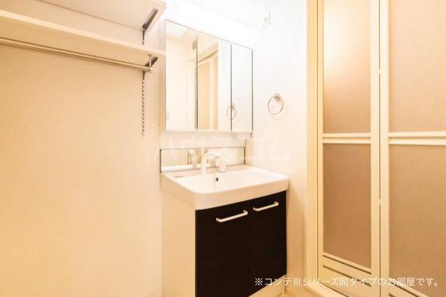ニューポート千波 01030号室の洗面所