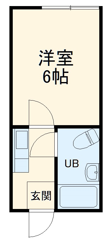 山武市上横地アパート・102号室の間取り