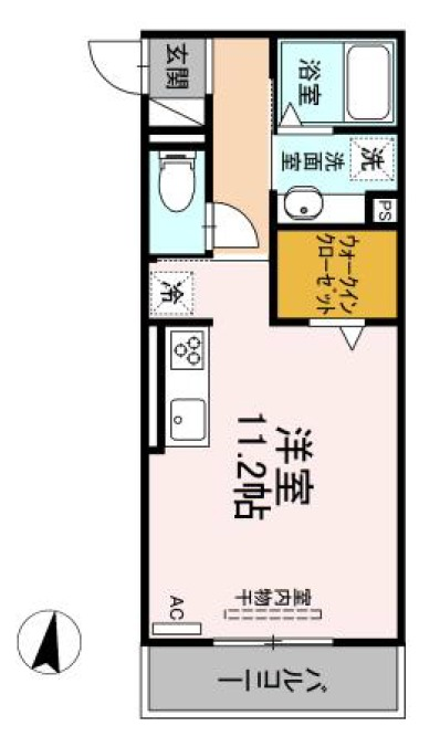 (仮 GRAND D-room京町 302号室の間取り
