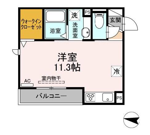 (仮 GRAND D-room京町 305号室の間取り