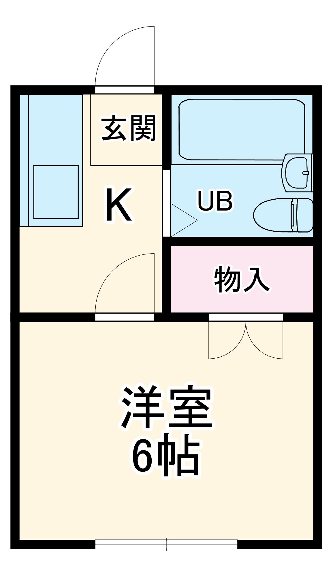 サンヒルズ飯塚・305号室の間取り