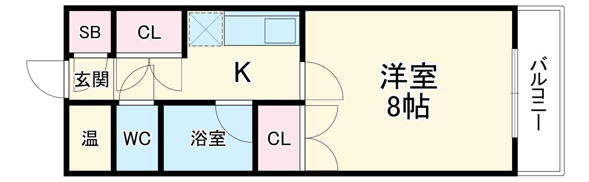 クリテリオン福岡・406号室の間取り