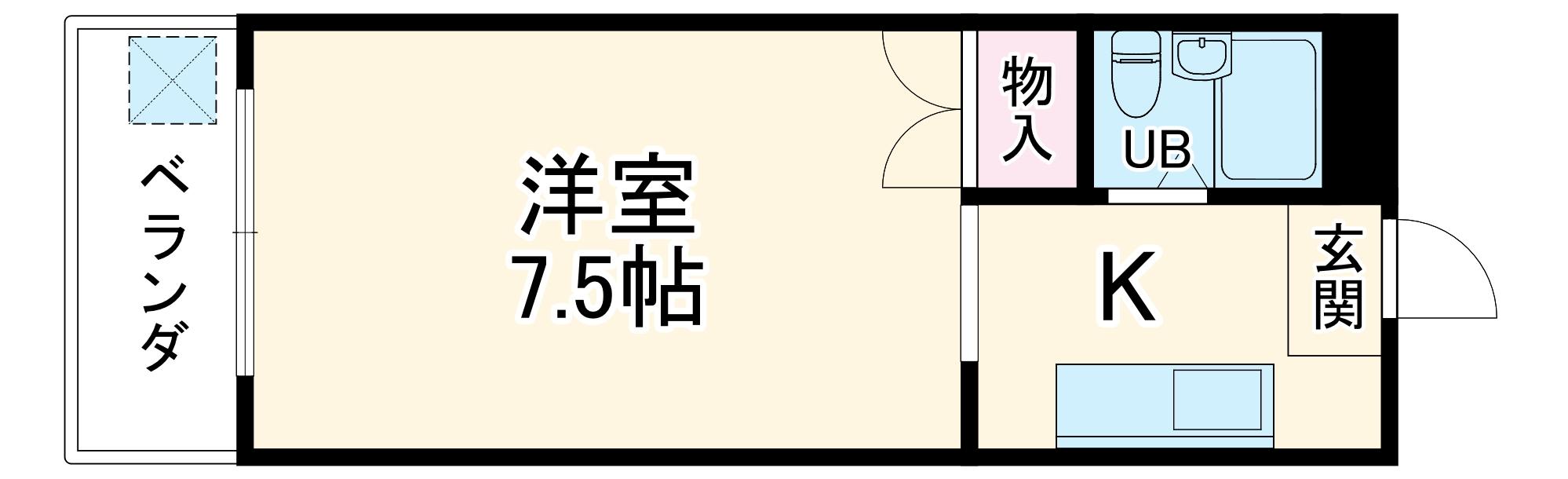 プチメゾン平嶋・201号室の間取り