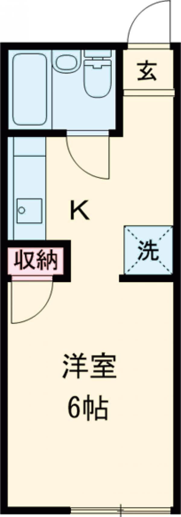 コート武蔵野B・201号室の間取り
