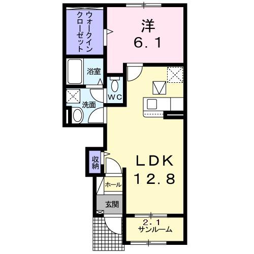 レオーネ Ⅱ・01030号室の間取り