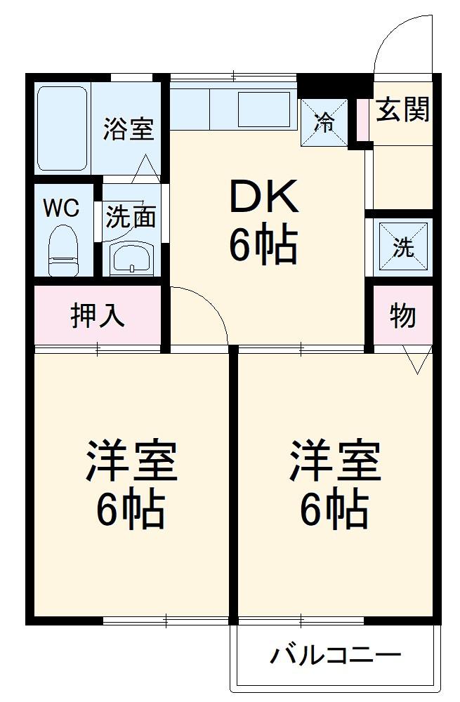 パークハイム井ノ口・201号室の間取り