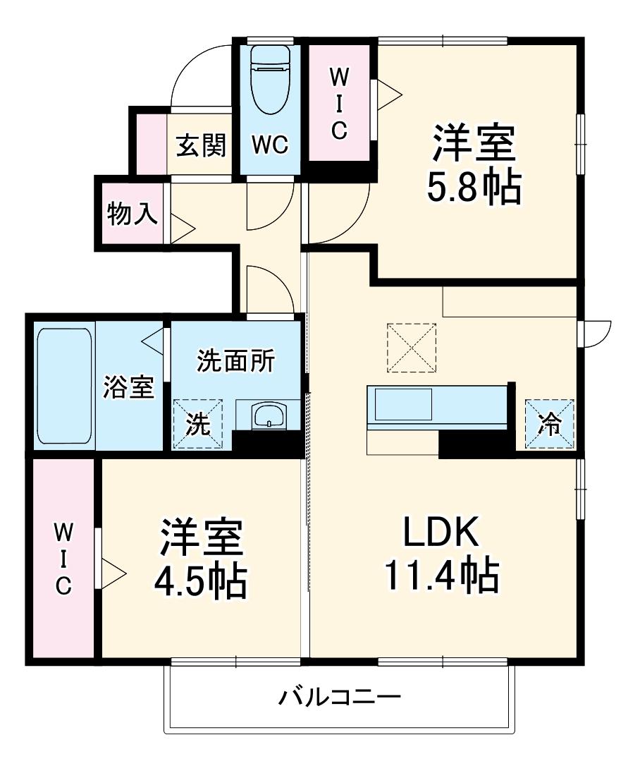 (仮)D-room大成町・101号室の間取り