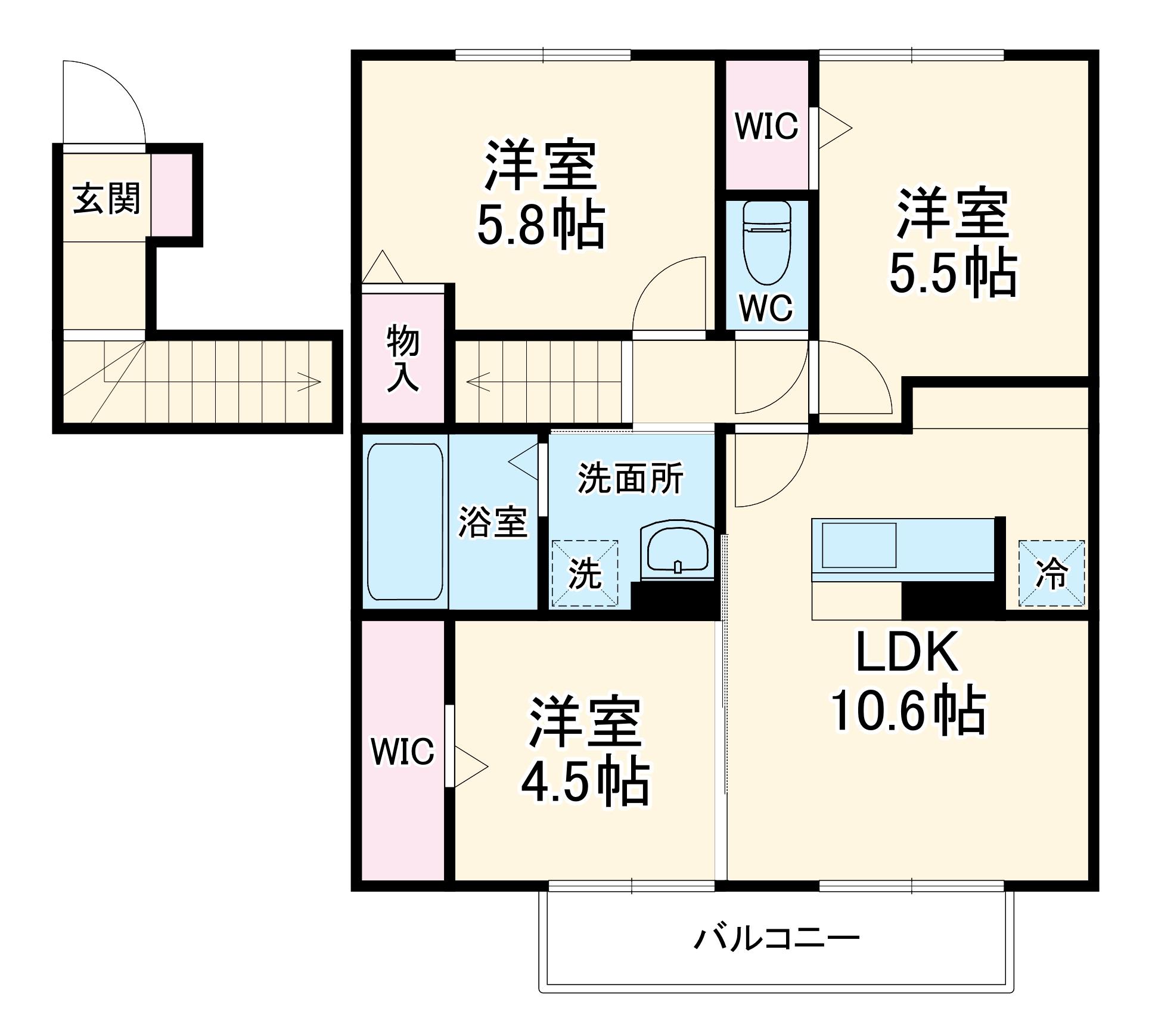 (仮)D-room大成町・202号室の間取り