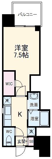 エステムコート名古屋平安通クチュール・704号室の間取り
