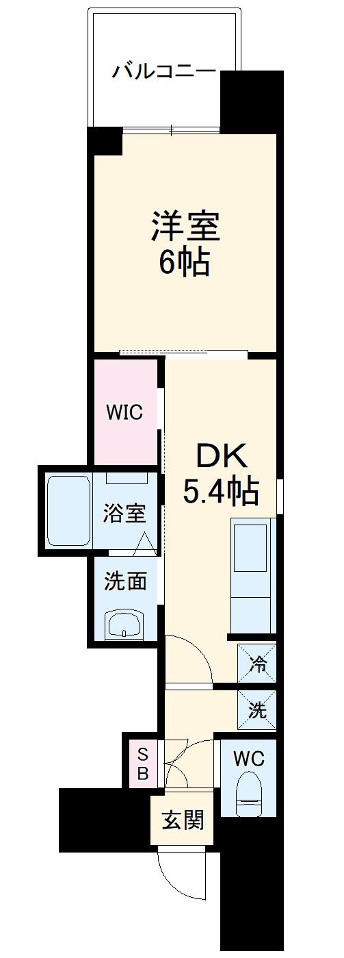 エステムコート名古屋平安通クチュール・805号室の間取り