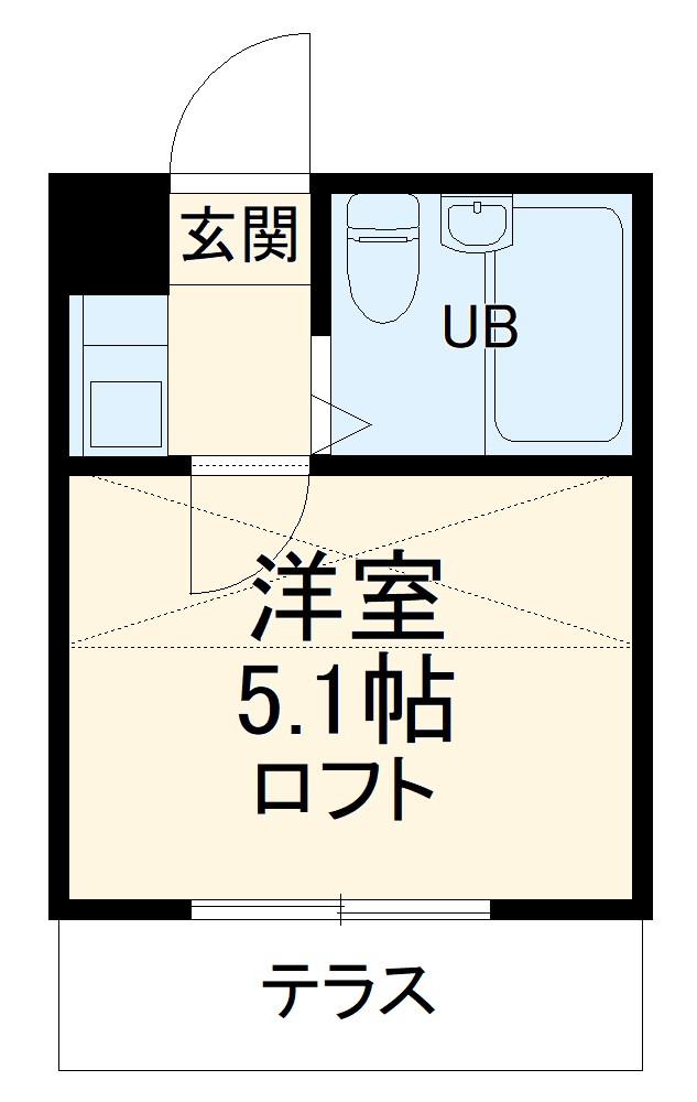 田村アパートメント・102号室の間取り