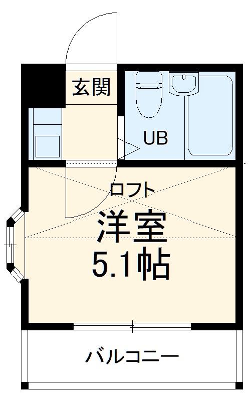 田村アパートメント 201号室の間取り