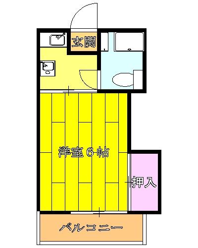 ホームドリアン 3号棟・205号室の間取り