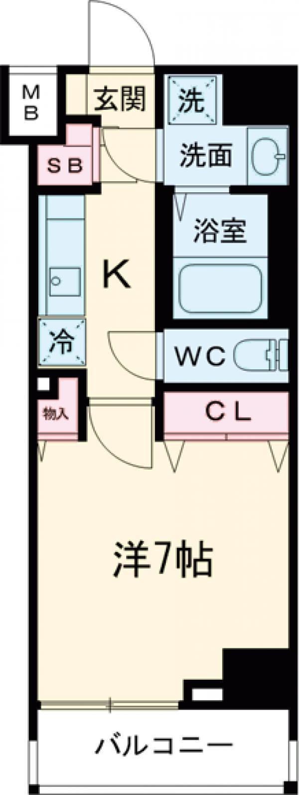 クレヴィスタ板橋西台Ⅲ・1004号室の間取り