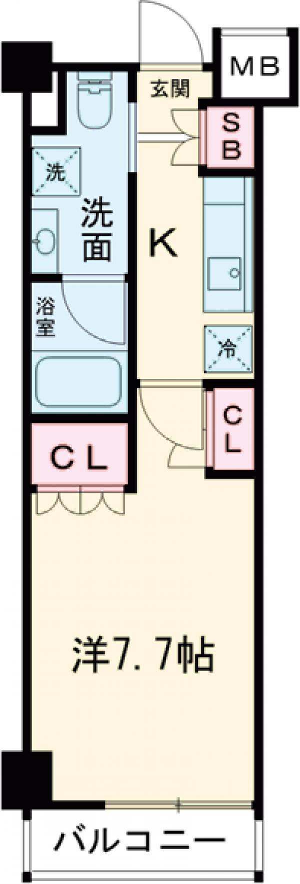 クレヴィスタ板橋西台Ⅱ・510号室の間取り