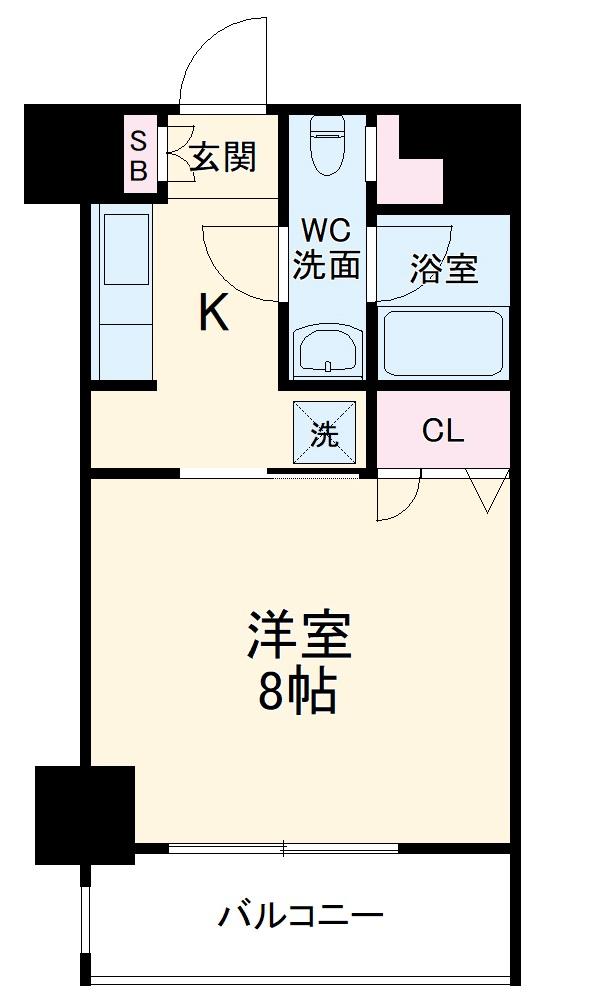 レジディア新横浜・1108号室の間取り