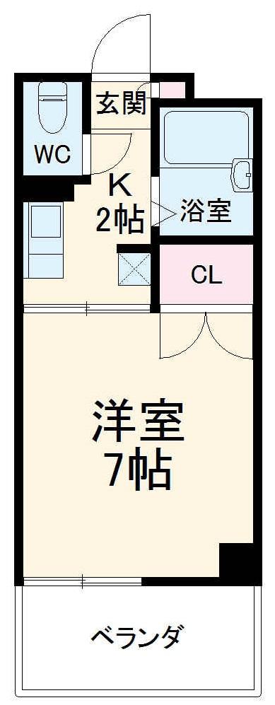 ツカヤマコートA・102号室の間取り